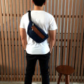 Tas Hip Bag Navy Denim