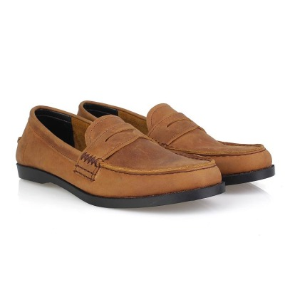 Sepatu Slip On Loafers Kulit Pedrovi Brown