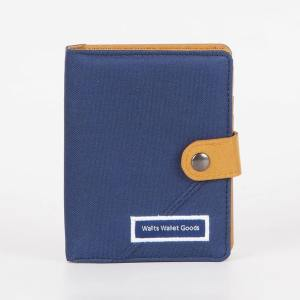 Dompet Canvas Claus Navy Gold