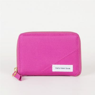 Dompet Zipper Medium Kanvas Fable Magenta