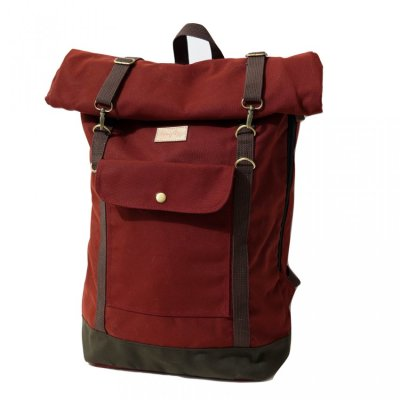 Tas Travel Backpack Raven Maroon
