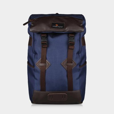 Tas Backpack Travel Skyscrapper Navy