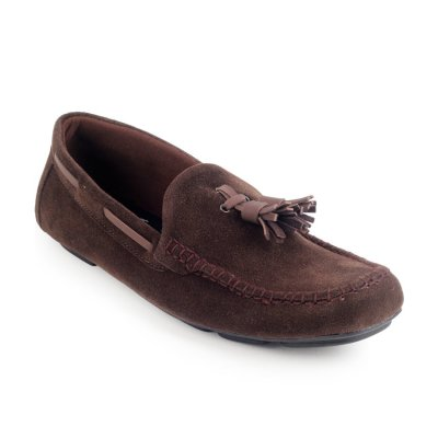 Sepatu Slipon Loafer Moccasin Gloster Brown