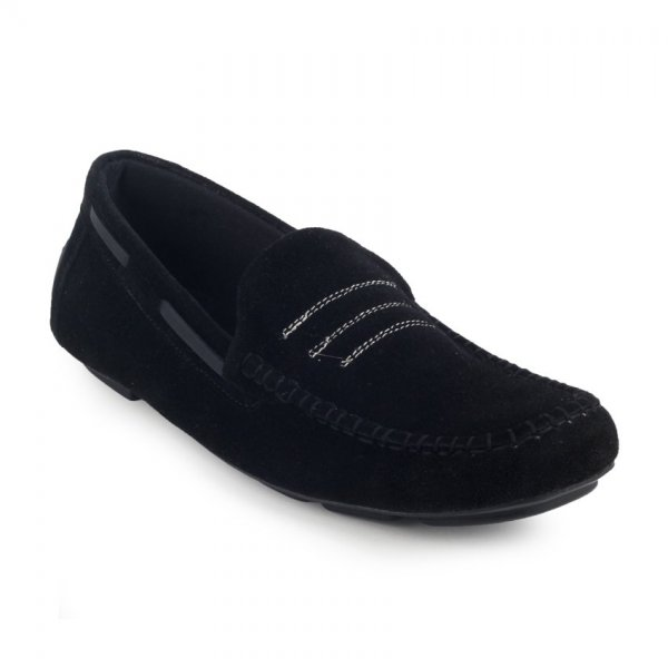 Sepatu Slipon Loafer Moccasin Gripen Black