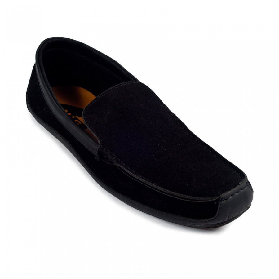 Sepatu Slipon Loafer moccasin mikoyan black