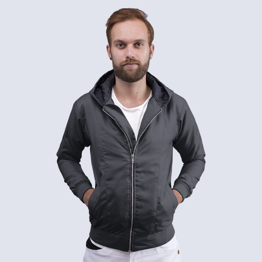 Jaket Parasut Phillip Dark Grey