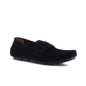 Sepatu Moccasin Slipon Loafer Scent Black