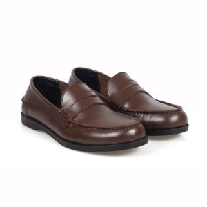 Sepatu slipon loafer kulit pedrovi glossy brown