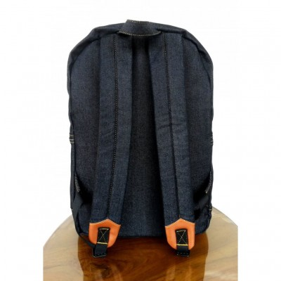 ransel jeans denim 1st dry black