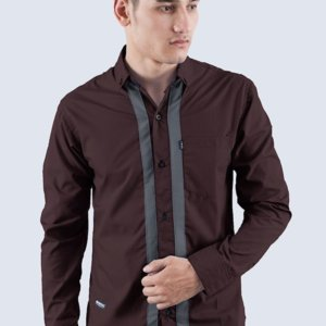 Kemeja Panjang Light Ray Brown DarkGrey
