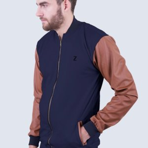Jaket Varsity Knight Navy Brown