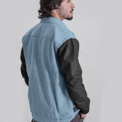 Jaket Denim Clarion Light Blue Black