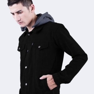 Jaket Denim Guardian Black Misty Dark