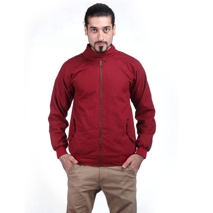 jaket parasut harrington maroon