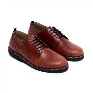 sepatu casual formal foster brown