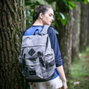 Tas Ransel Backpack Brain Storm Grey