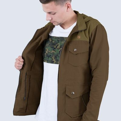 Jaket Parka Steve Green Coffee