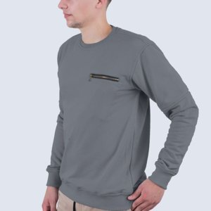 Sweater Kasual Pria Diego Dark Grey