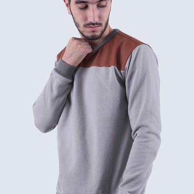 Sweater Casual Pria Jimmy Light Grey