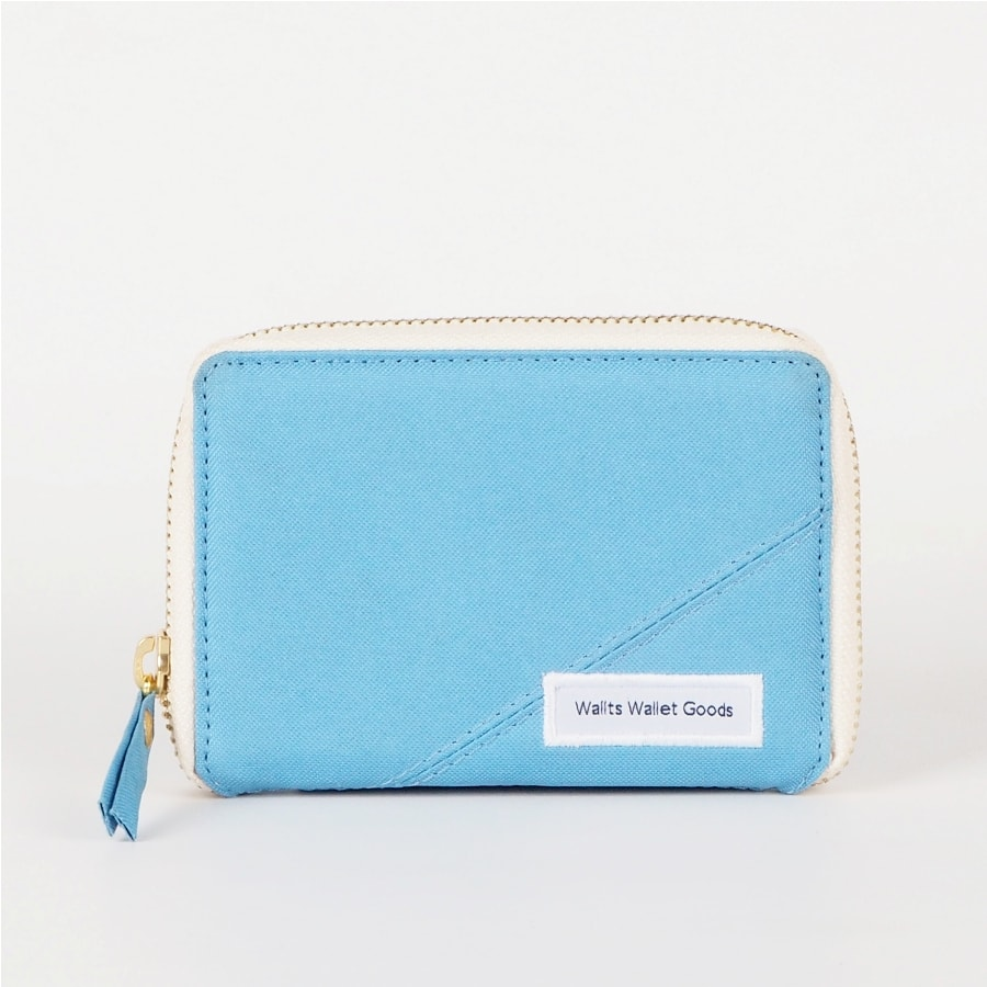 Dompet Zipper Medium Kanvas Fable Aqua Cream