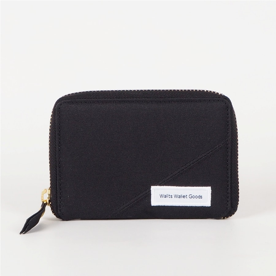 Dompet Zipper Medium Kanvas Fable Black