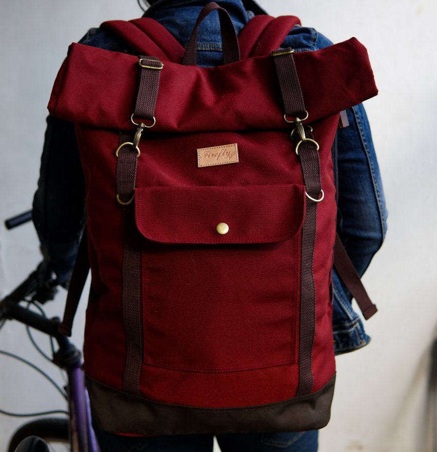 Tas Travel Backpack Raven Maroon - Mall Online Indonesia