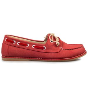 sepatu slipon women red swift