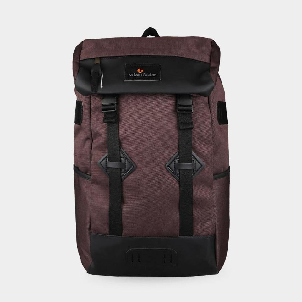 Tas Backpack Travel Skyscrapper Brown