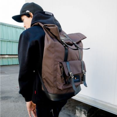 Tas Travel Ransel Jam Session Brown