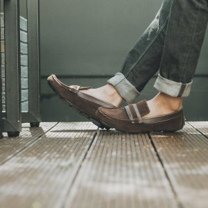 Sepatu Slipon Loafer Alpha Moccasin Brown