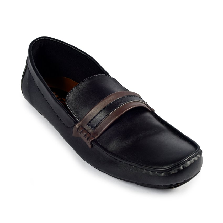 Sepatu Slipon Loafer Eagle Moccasin Black