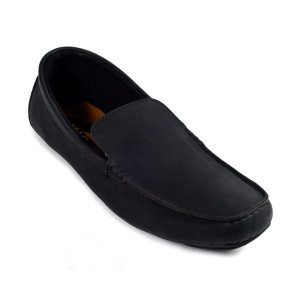 Sepatu Slipon Loafer Fagot Moccasin Black