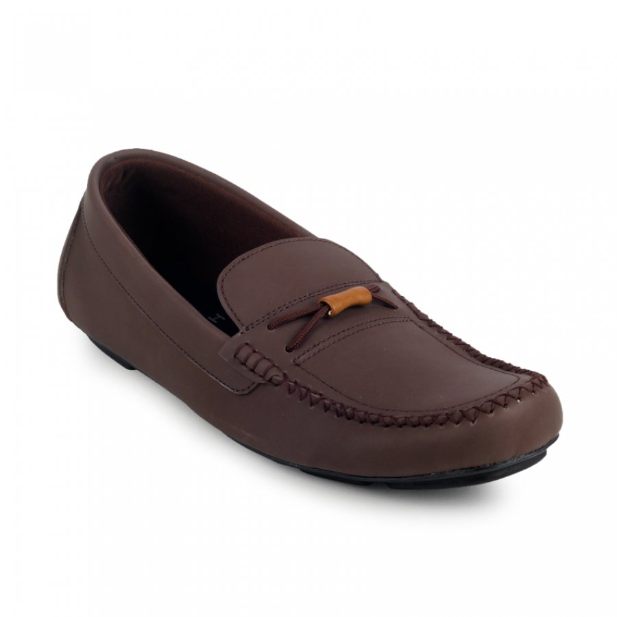Sepatu Slipon Loafer Typhoon Brown Moccasin