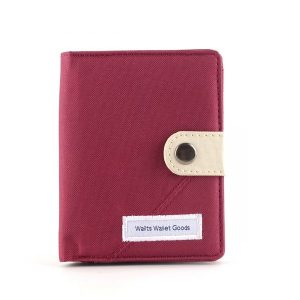 Dompet Canvas Claus Maroon