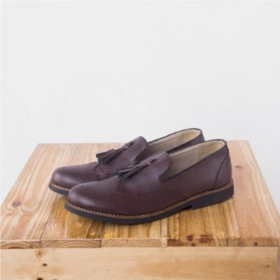 Sepatu Loafer Slipon Derawan Brown