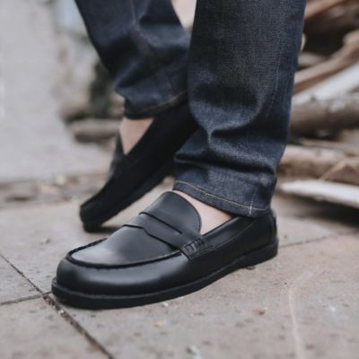 Sepatu slipon loafer formal arbeiten 01 Black