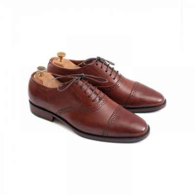 Sepatu Formal Pantofel Kulit Coklat Premium Barry Brown