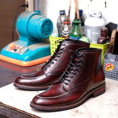 Sepatu Boots Formal James Maroon