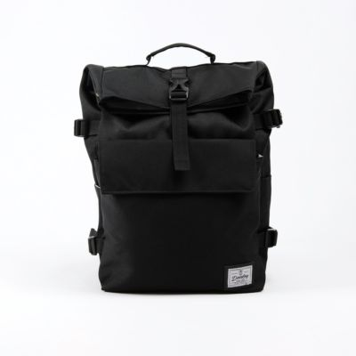 Tas Backpack rolltop moscow bag black