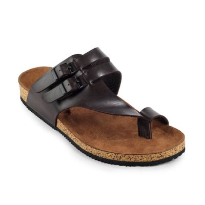 Sandal Kasual Pria Alfaro Dark Brown