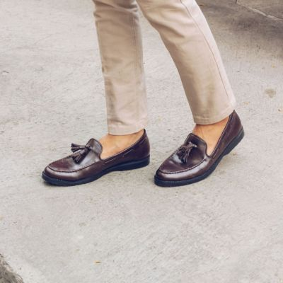 Sepatu Slipon Loafer Porto Brown