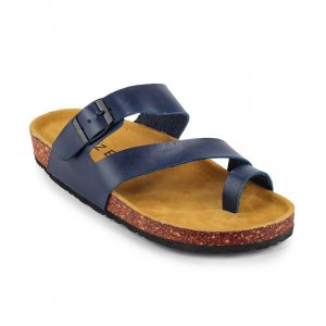 Sandal Jepit Kasual Kagura Brown Navy