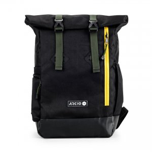 Tas Backpack Logan Rolltop Black