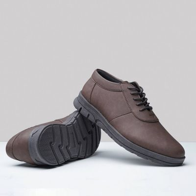 Sepatu Sneakers Kulit Morris Royal Brown