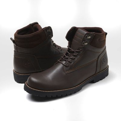 Sepatu Safety boots pentatonic dark brown