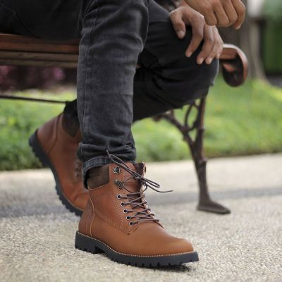Sepatu Safety boots pentatonic light brown