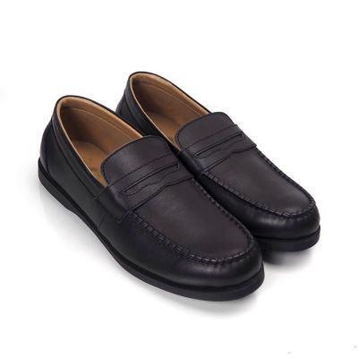 Sepatu Slipon Loafer Kulit Melsmatic Black