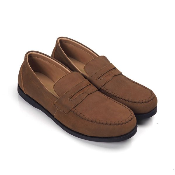 Sepatu Slipon Loafer Kulit Melsmatic Brown