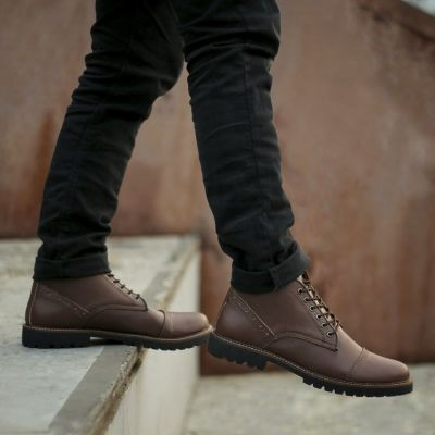 Sepatu Safety Boots Accoustic Brown