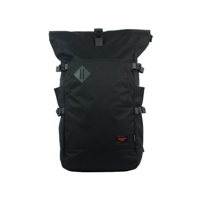 Tas Backpack Mannheim Rolltop Black